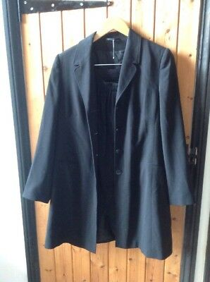 BLACK MATERNITY SKIRT SUIT SKIRT & SINGLE BREASTED JACKET BY NEXT In VGUC SZ 12