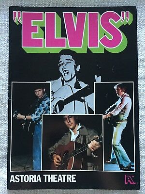 ELVIS the musical progamme with SHAKIN STEVENS & SIGNED A5 programme **RARE**
