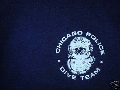 CHICAGO POLICE  MARINE UNIT  DIVE T SHIRT   medium