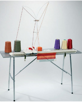 Springwools Silver LK150 Knitting Machine + Table