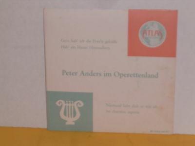 """Single 7"""" - Peter Anders - Im Operettenland - Ep"""