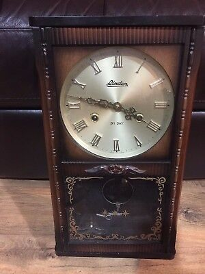 Vintage Linden 31 Day Wall Clock