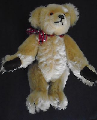 DELIGHTFUL MARIE STOTT ORIGINAL COLLECTORS MOHAIR TEDDY BEAR HONEY BROWN 24 cms