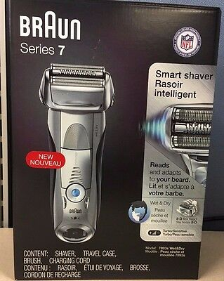 Braun Series 7 Smart Shaver 7893s Wet&Dry Sonic Technology, Used, Free Shipping