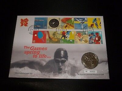 2011 Olympic Games Royal Mint Coin Cover First Day Cover - Count Down To London