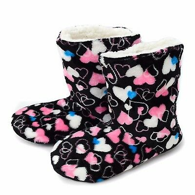 Women's Snuggled Hearts House Slipper Booties (WFWB1709)