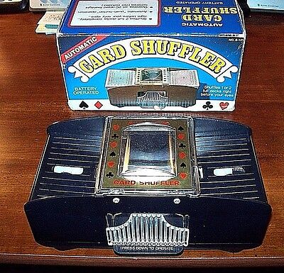 Automatic Hoyle Card Shuffler Battery Operated Up To Two Decks Excellent!