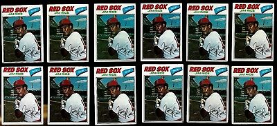 (Lot of 12) 1977 Topps Jim Rice #60 Baseball Card Boston Red Sox Baseball Cards