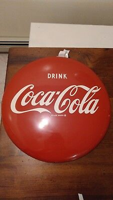 1950's vintage Coca Cola 16 Inch Button Sign