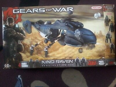 gears of war king raven helicopter with figures ..300+parts construction kit