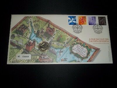 2004 Scotland Definitive £1 Coin Cover Fdc- The Forth Bridge, St Andrews Day