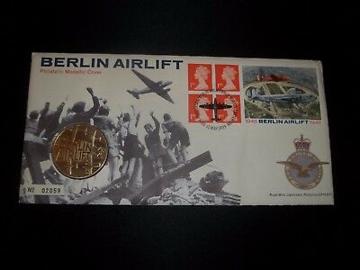1999 Berlin Airlift Royal Mail Coin Cover Fdc - 50Th Ann Berlin Airlift