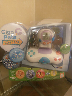 Giga Pets Explorer Plug N Play Electronic Interactive TV Game System  New