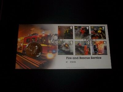 2009 Fire & Rescue Services Royal Mail Coin Cover Fdc - Moreton In Marsh
