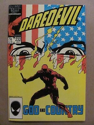 Daredevil #232 Marvel Comics 1st app Nuke NETFLIX 9.2 Near Mint-