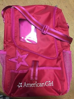 American Girl Doll and Pet Carrier Tote Shoulder Bag Pink RARE