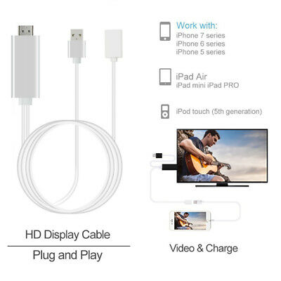 8 Pin Lightning To HDMI HDTV AV Cable Adapter For Apple iPad Mini 4 iPhone 5 6 7
