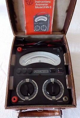AVOMETER Model 8, Mk 5, Leather Case, Cables/probes + Instructions