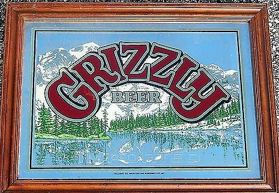 A Very Beautiful Mirror Beer Sign - GRIZZLY