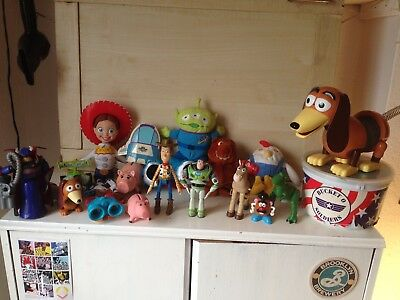 Toy Story Figure And Plush Bundle Collection Buzz Woody Slinky Bullseye Jessie