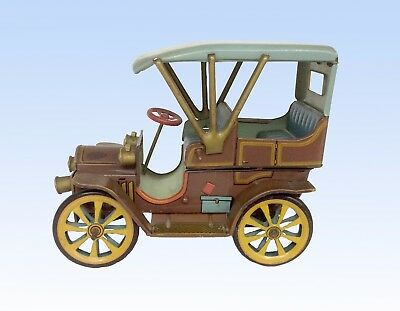 Modern Toy Company, Japan. Vintage Tin Car, Lever Action Touring Car