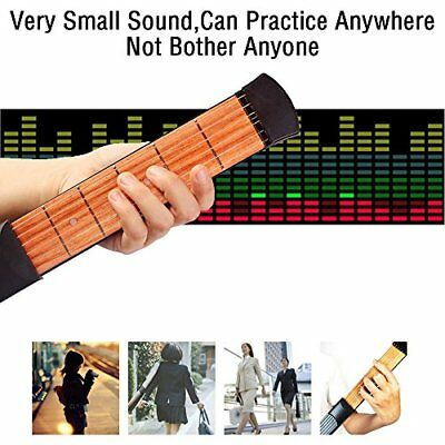 NEW Portable Pocket Practice Tool Acoustic Wooden Guitar Chord Trainer 6 Fret