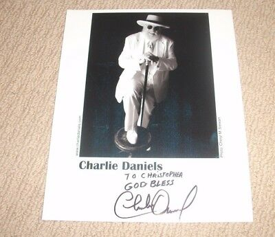 Charlie Daniels - Autographed 8X10 Promo Photo *signed* Country Rock Blues