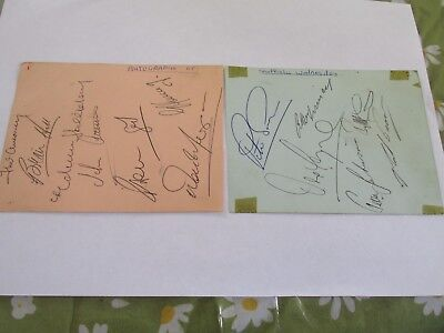 13 genuine Sheffield Wednesday autographs 1963-5 2 pages from old autograph book