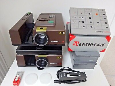 Two Reflecta Slide Projectors With  Electronic & Manual Dissolve Units