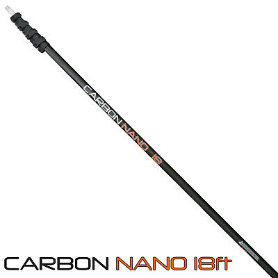 18 Foot Carbon Nano Water Fed Cleaning Pole - Super High Modulus Carbon WFP