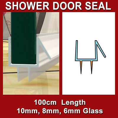 Shower Screen Door Stop Leak Water Seal Strip 10Mm 8Mm 6Mm 5Mm Glass U-Shape