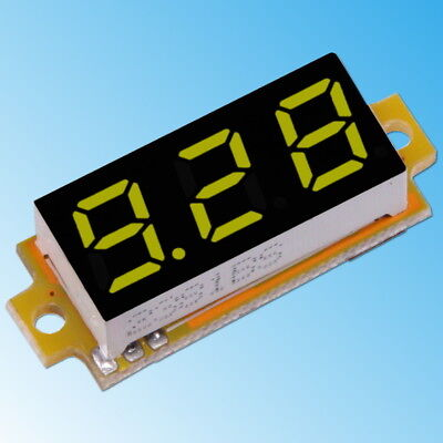 0-10V DC Voltometro 3-Cavi Giallo Digitale LED Mini Display da Pannello Tester