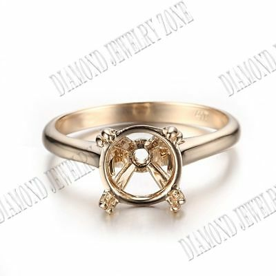 Round Size 9mm 10K Yellow Gold Prong Setting Engagement/Wedding Solitaire Ring