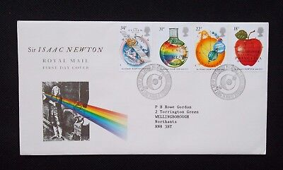STAMPS.1987. FIRST DAY COVER. 300th ANNIVERSARY OF MATHEMATICS BY ISAAC NEWTON