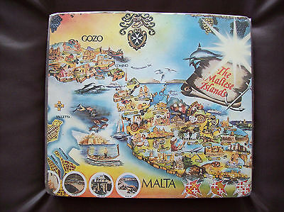 Place Mats Vintage 60s/70s Set Of 6 Malta Scenes  Brand New In Wrapping
