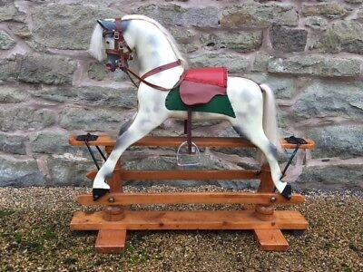 Antique Rocking Horse Ideal Christmas Gift With Worldwide Shipping