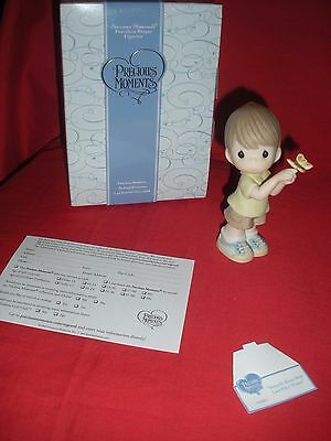 """Precious Moments """"butterfly Kisses With Love Filled Wishes"""" Figurine New W/ Box"""