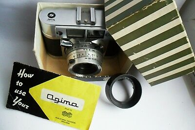 Agilux Agima 35mm Rangefinder 1960  British camera, box and case fully working