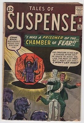 Tales Of Suspense #33 9/62 Silver Age Marvel Comics CHAMBER OF FEAR Stan Lee