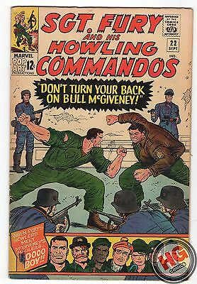 Sgt. Fury and His Howling Commandos #22 9/65 Silver Age Marvel Comics Stan Lee