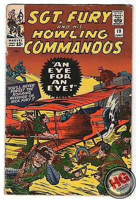 Sgt. Fury and His Howling Commandos #19 6/65 Silver Age Marvel Comics Stan Lee