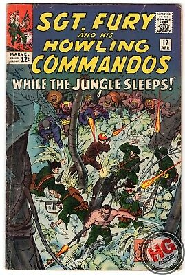 Sgt. Fury and his Howling Commandos #17 4/65 Silver Age Marvel Comics Nick