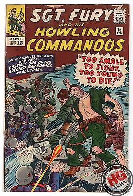 Sgt. Fury and His Howling Commandos #15 2/65 1st Hans Rooten Silver Age Marvel