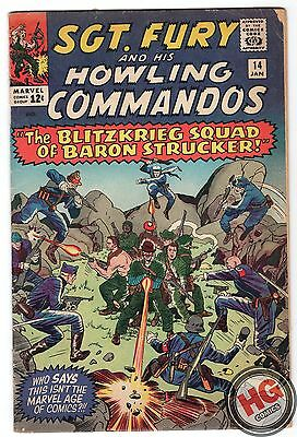 Sgt. Fury and His Howling Commandos #14 1/65 Silver Age Marvel Blitzkrieg Squad