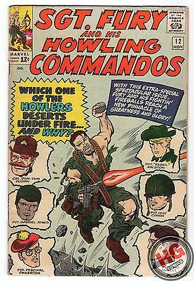 Sgt. Fury and His Howling Commandos #12 12/64 Silver Age Marvel Comics Avengers