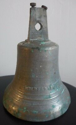 Ancienne Cloche Hildebrand Paris En Bronze Xixeme   (Chapelle Ecole Eglise)