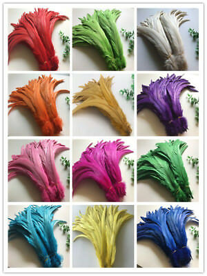 Wholesale! 10/50/100 pcs beautiful rooster tail feathers 12-16inches/30-40cm DIY