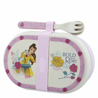 """Belle Organic Bamboo Snack Box mit Besteck"" - A28940 - ENESCO DISNEY ENCHANTING"