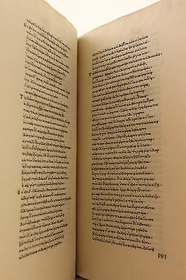 Homer Odyssey 1488 Book XVII 1st Printed Edition in Greek Incunable Iliad Rare