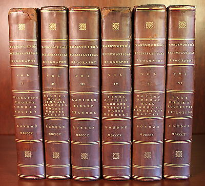 Wordsworth Ecclesiastical Biography 1810 Complete in 6 Volumes History England